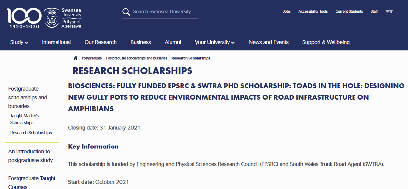 EPSRC AND SWTRA