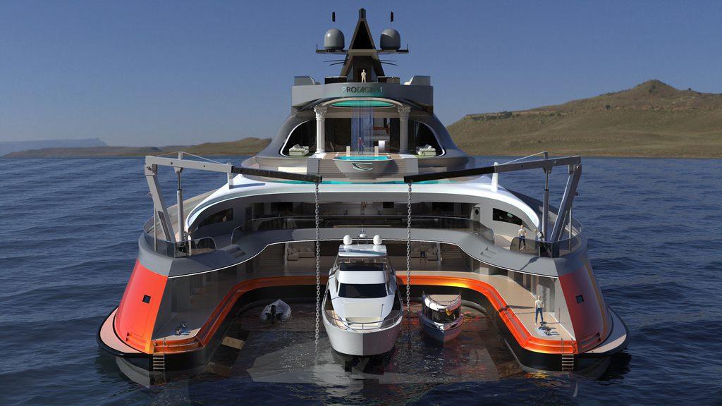 201120174214 the prodigium yacht concept rearfull The Luxury Mega Yacht That Looks Like A Shark