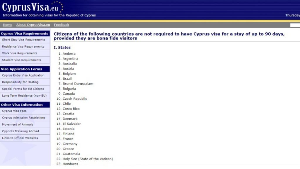 41 Complete Guide To Cyprus Visa Application