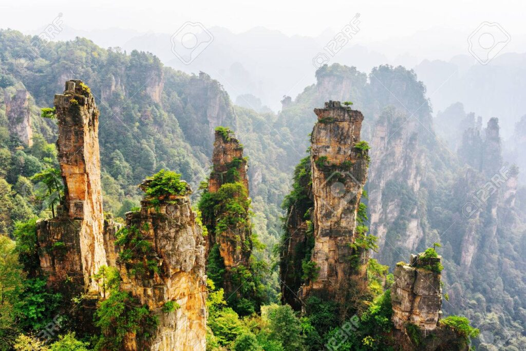 57182227 natural quartz sandstone pillars of fantastic shapes avatar mountains in the zhangjiajie national fo 10 Countries With The Most Captivating Natural Attractions On Earth
