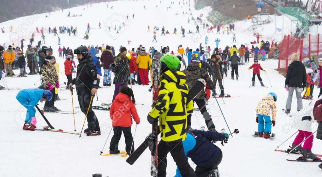 99409713 crowded of tourists enjoy the activities in jisan forest ski resort in seoul south korea 10 Countries With The Best Sports And Activities