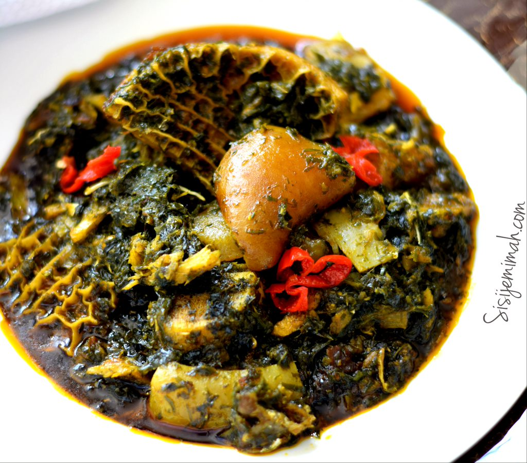 Afang soup 16 8 Nigerian Dishes You Must Try