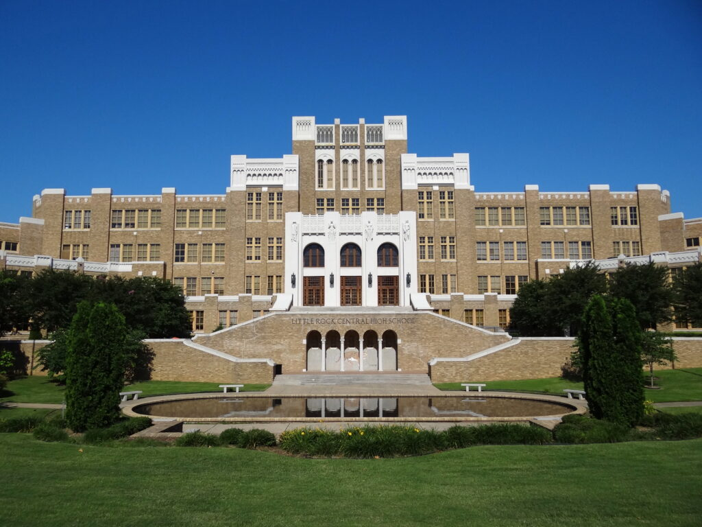 Facade of Central High School Little Rock Arkansas USA 01 15 Great Black History Sites To Visit In Your Lifetime