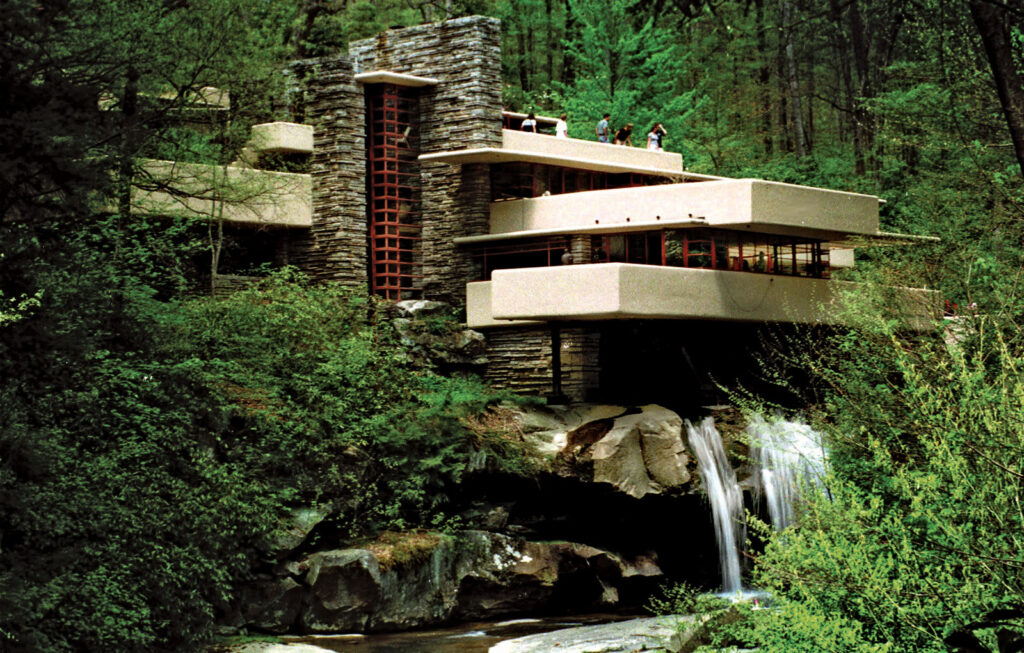 Fallingwater Frank Lloyd Wright Mill Run Pennsylvania 1937 Iconic Buildings, The Top 24 Most Beautiful Structures Around The World