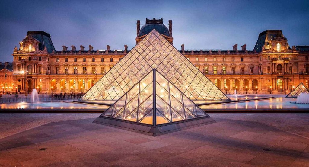 Louvre museum in Paris Iconic Buildings, The Top 24 Most Beautiful Structures Around The World
