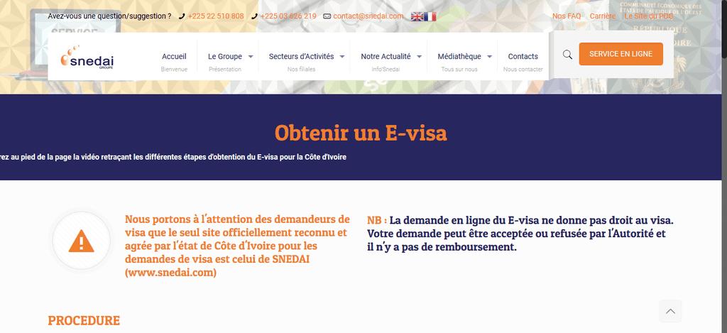 Screenshot 2021 01 25 E visa – SNEDAI GROUPE A Complete Guide To COTE D'IVOIRE Visa Application
