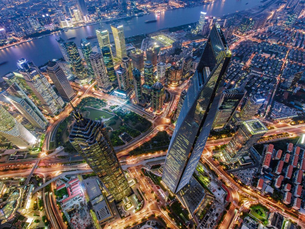 Shanghai Municipality in China Vintage Metal Jin Mao Tower Statue and Shanghai World Financial Center aerial painting 1920x1440 1 Iconic Buildings, The Top 24 Most Beautiful Structures Around The World