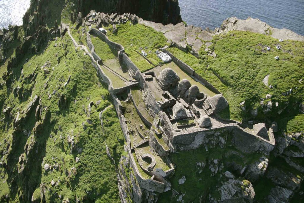 Skellig Michael Aerial View Beehive Huts 2 16 Beautiful And Captivating Sites In Europe You Have To Visit