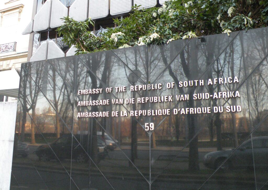 South African embassy in Paris 1 10 Most Powerful Passports In Africa And How To Acquire Them