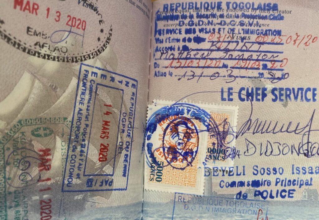 Togo Visa On Arrival Stamp Complete Guideline To Togo Visa Application