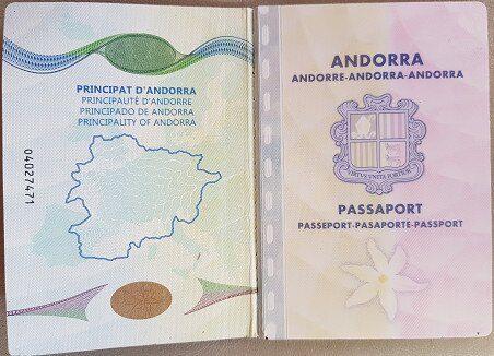 andorra passport 20191 Extensive Guide To Andorra Visa Application