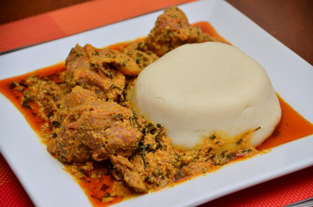 pounded yam and egusi 1024x678 1 8 Nigerian Dishes You Must Try