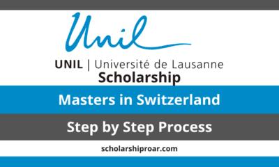 UNIL Masters Scholarships in Switzerland 2021/2022